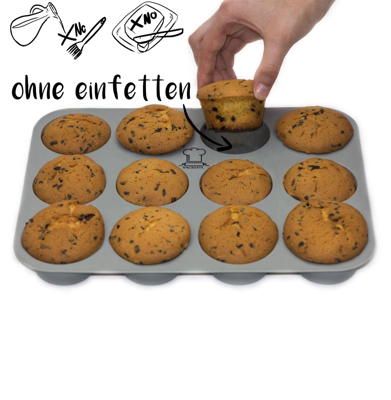 ohne Einfetten kein ankleben bei dem Muffinblech