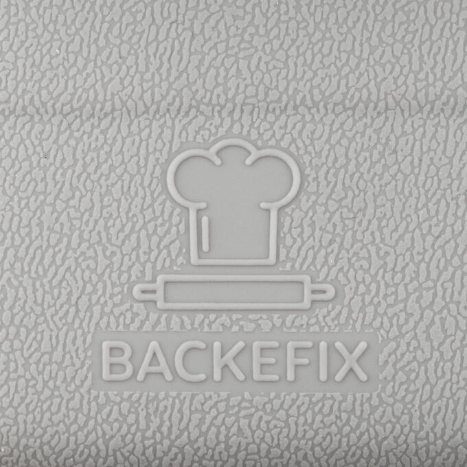 Detailaufnahme Backefix Logo