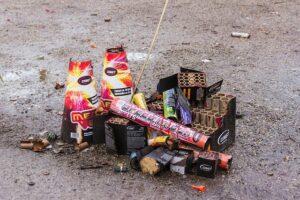 Feuerwerk macht viel Abfall ist aber teilweise recyclebar