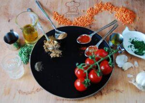 Zutaten vom veganen Linsenaufstrich