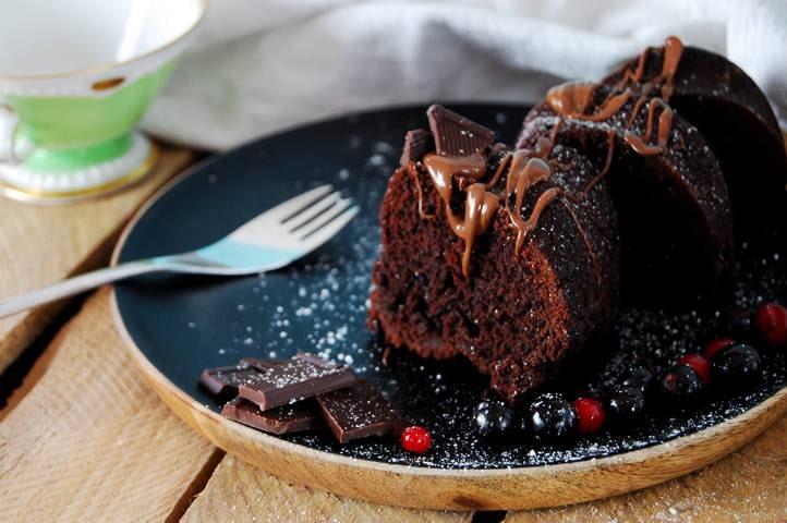 Nutella Kuchen angerichtet