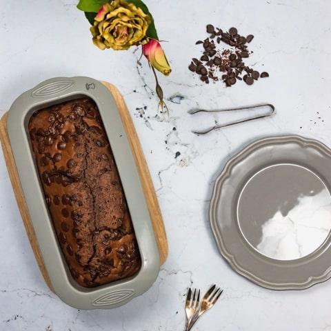 veganer Schokoladen Kuchen mit Kokosnussmilch