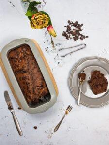veganer Schokoladenkuchen mit dem Rezept von Backefix