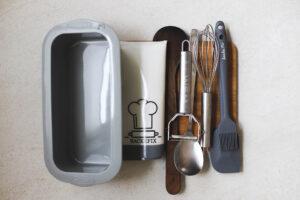 Plastik reduzieren im Haushalt Küchenutensilien und Backutensilien zum Wiederverwenden