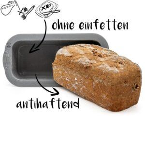 Backefix Silikon Brotbackform ohne Einfetten antihaftend