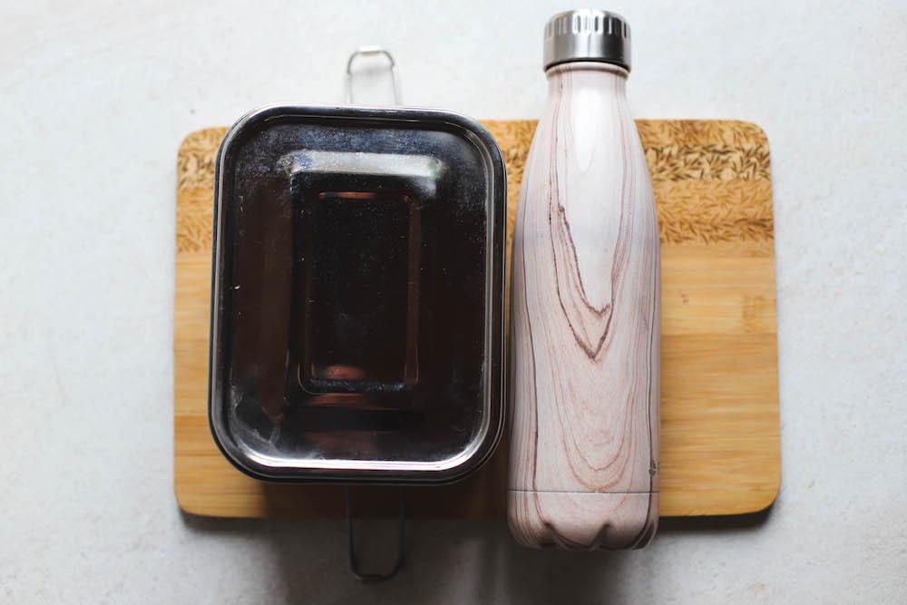 Edelstahlbehälter und Edelstahlflasche