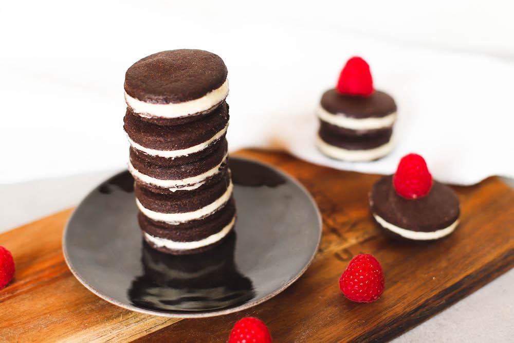 fertige vegane Oreo Kekse