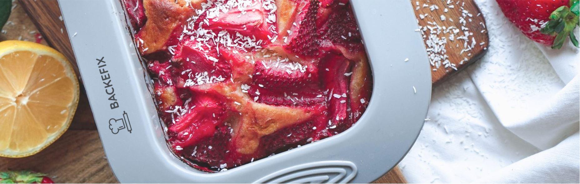 Backefix Silikon kuchenform Erdbeer kastenkuchen