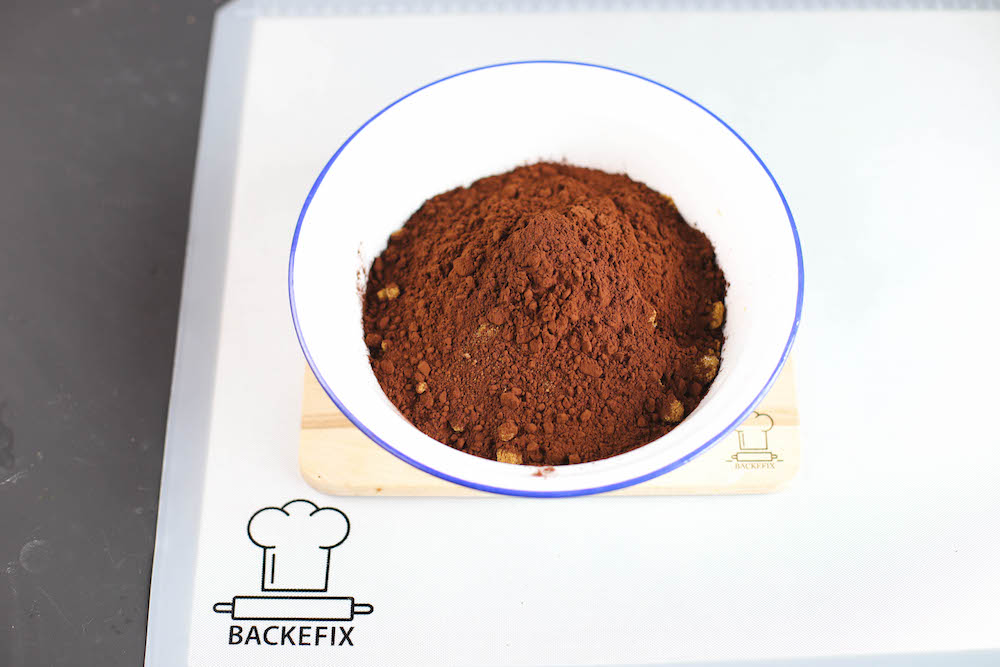 Zutaten von veganen Brownies