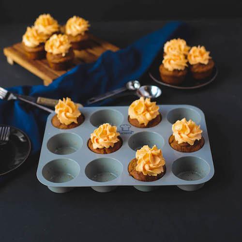 Vegane Kürbiscupakes in Muffinform aus Silikon von Backefix