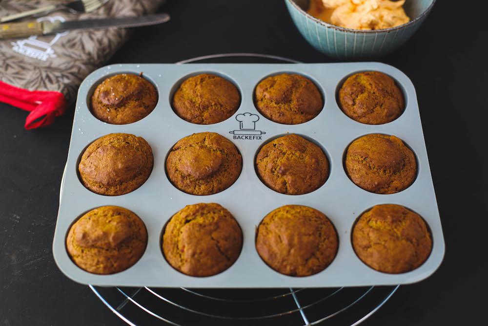 Kürbiscupcakes in Muffinform