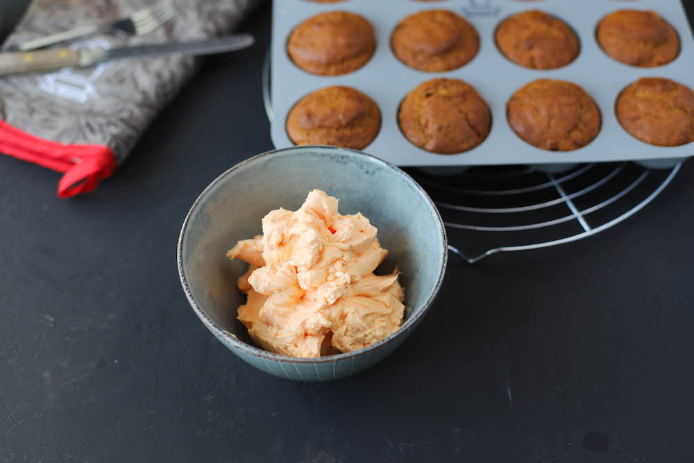 Buttercreme für vegane Kürbiscupcakes