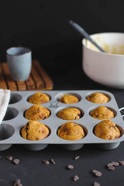 fertige vegane Protein Pancakes in Muffinform aus Silikon
