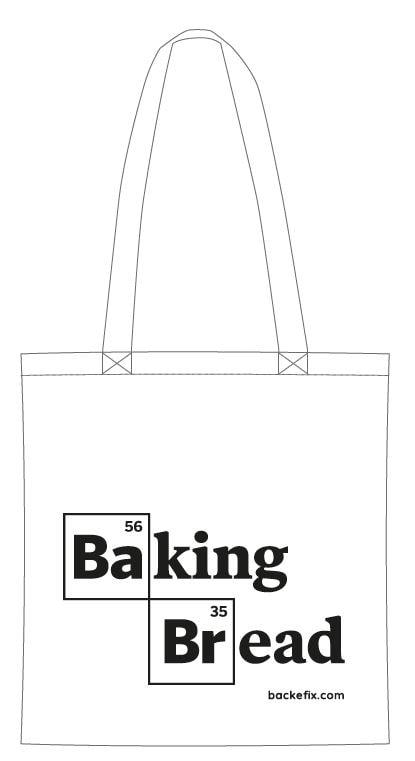 Baumwolltasche Jütebutel Baking Bread Motiv
