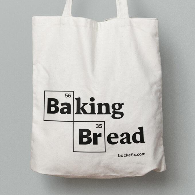 vergrößert Baumwolltasche Motiv Baking Bread