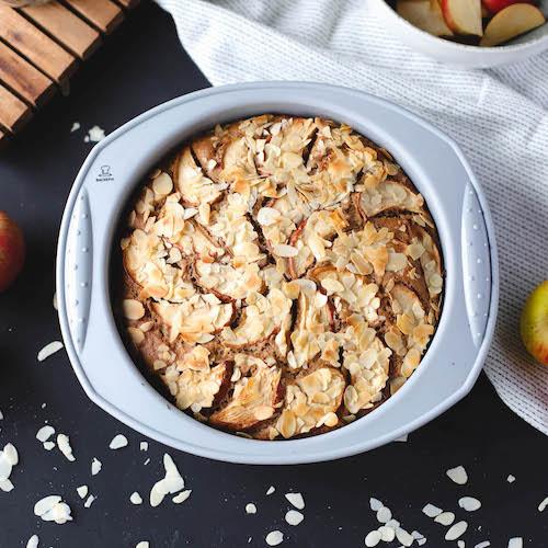 veganer Apfelkuchen in Silikonform