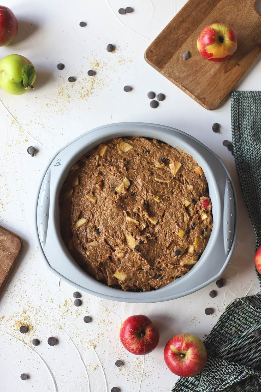 veganer Apfelkuchen mit Schokolade