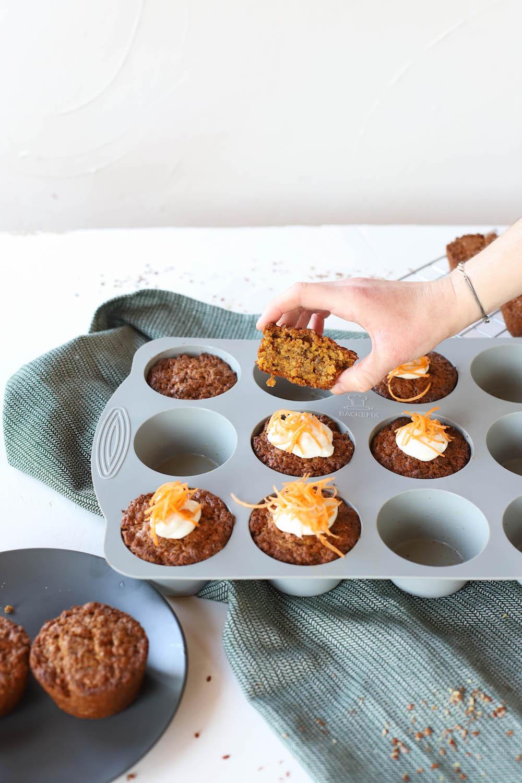 Karottenmuffins in der Komfort Muffinform von Backefix
