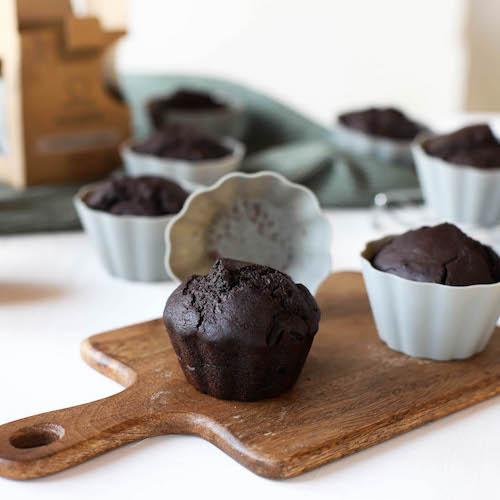 Schokomuffins in Muffinförmchen von Backefix
